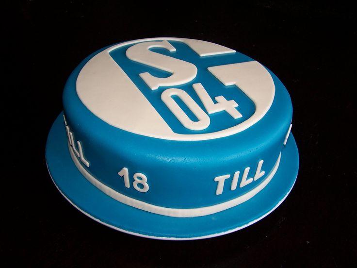 Fußballtorte Fondant Schalke 04 - Football Fondant Cake