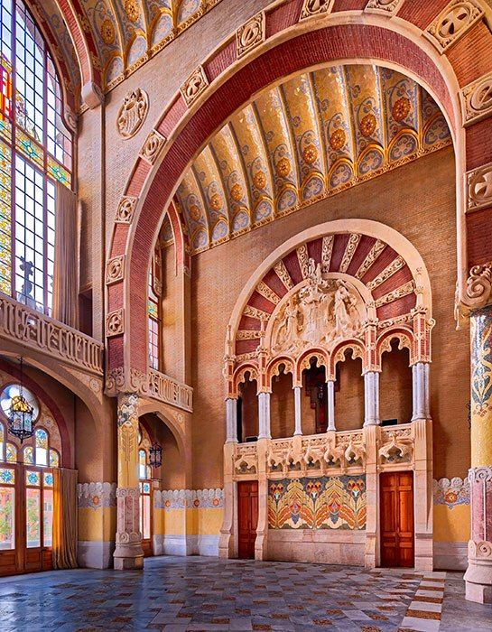 A historic hospital by architect Lluis Domenech i Montaner in Barcelona is brilliantly restored