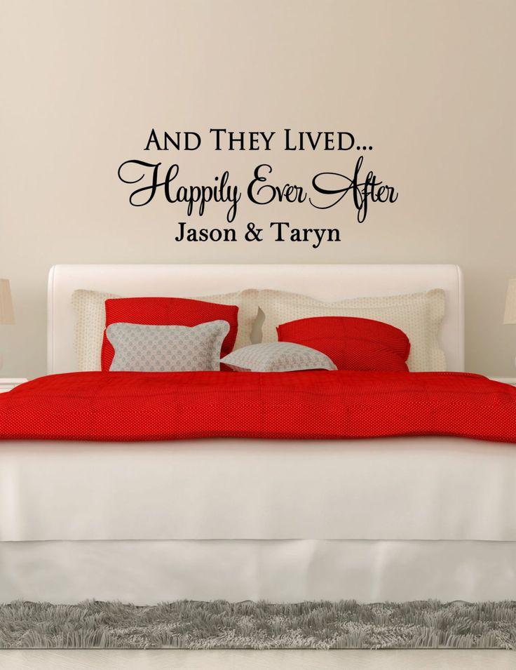 Best Romantic Wedding Vinyl Decals By The Vinyl Company - Custom vinyl wall decals for master bedroom