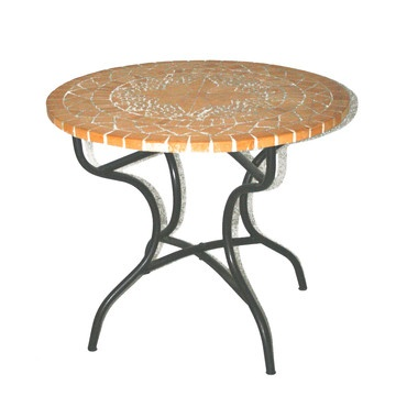Terracotta Mosaic Table Natural, 174€, now featured on Fab.