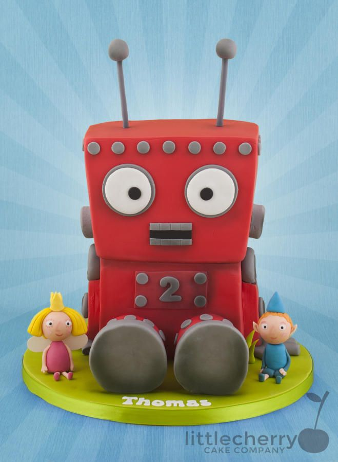 Ben and Holly's Little Kingdom - Red Robot Cake - Cake by Little Cherry
