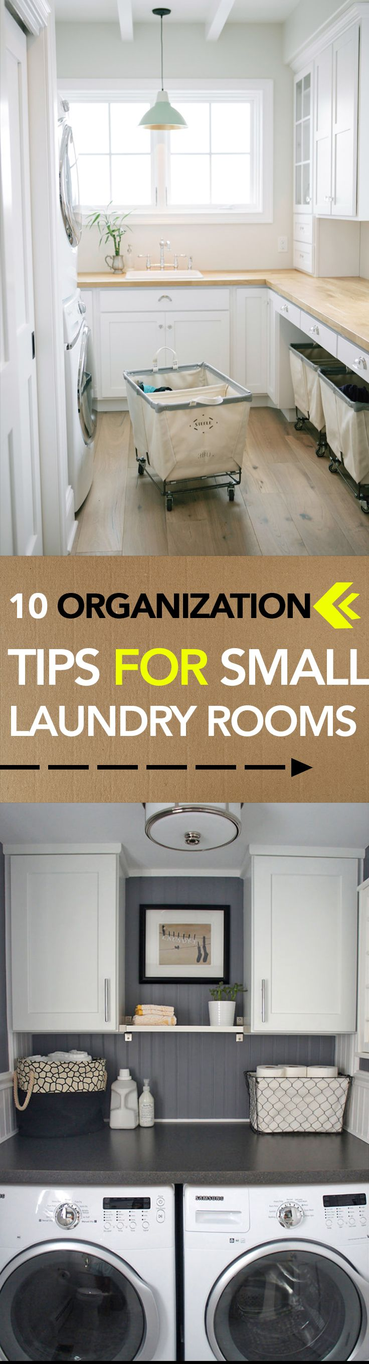 10 Organization Tips for Small Laundry Rooms