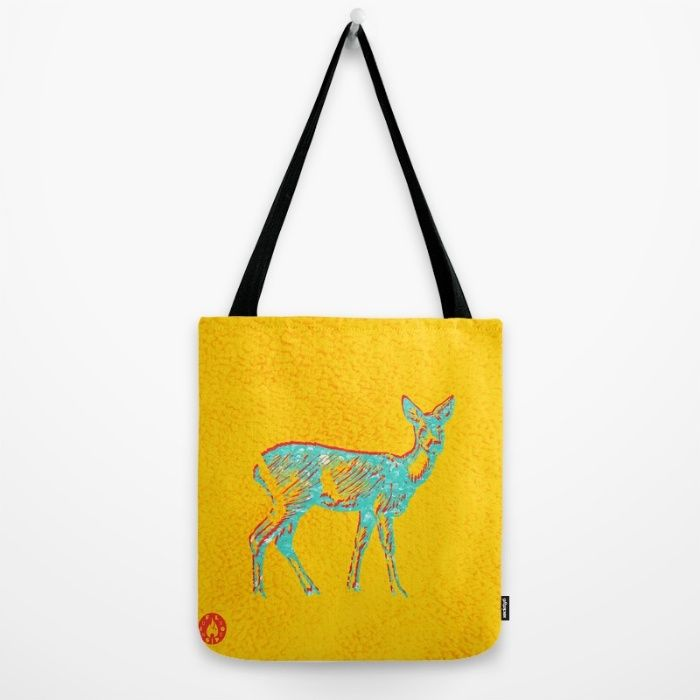 """Right now on Society6: """"Deer Mind"""" tote bag by Fluxionist"""