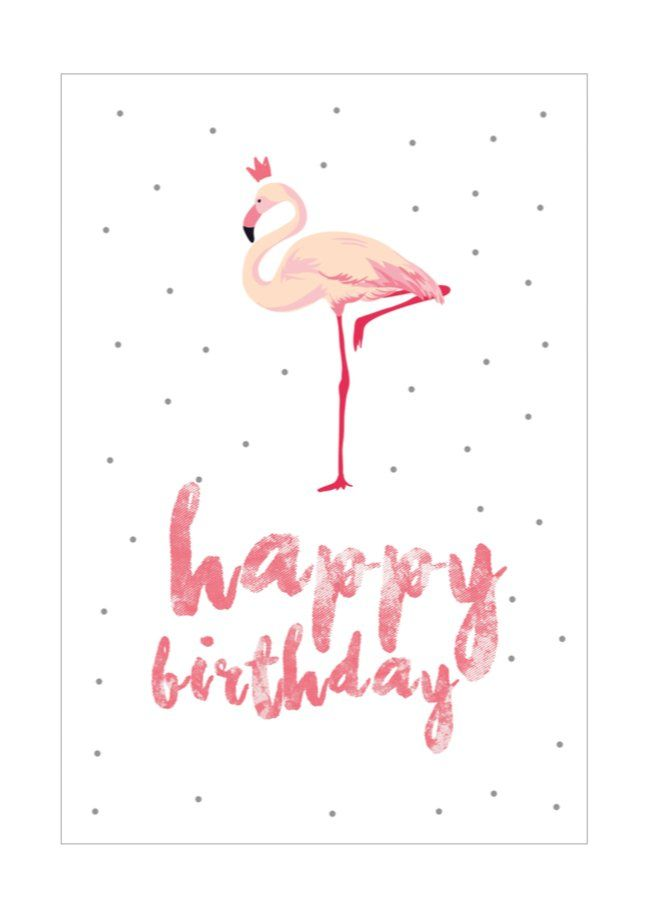 These 16 Printable Birthday Cards Cost Absolutely Nothing! Flamingo Download: Flamingo Card