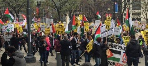 Anti-Israel activists storming AIPAC conference