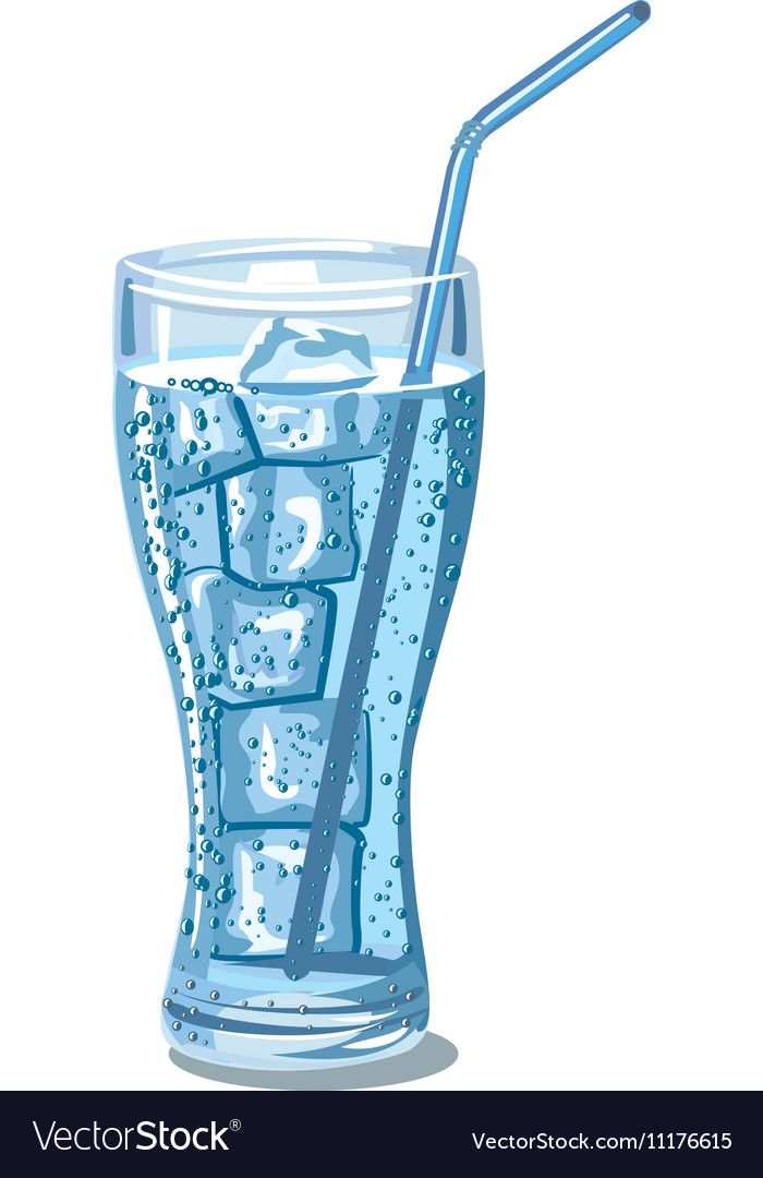 Glass Of Sparkling Water Royalty Free Vector Image Water Illustration Water Aesthetic Miniature Photography