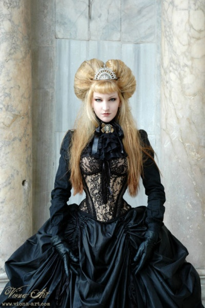 black lace gothic ball gowns