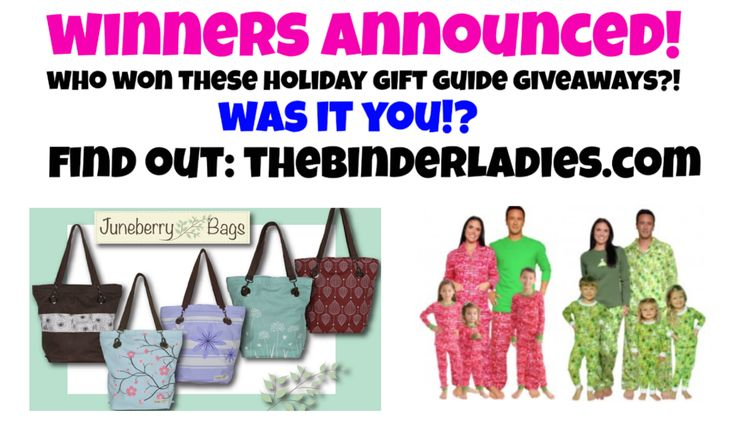 WHO WON!? Giveaway Winners Announced for Juneberry Bag & SleepyHeads Family PJs Giveaways!