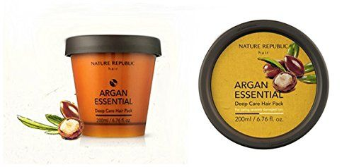 [Nature Republic] Argan Essential Deep Care Hair Pack 200ml Argan Hair Pack travel Size For deep treatment(2pcs) Total 3pcs -- Read more details by clicking on the image. #hairtreatment
