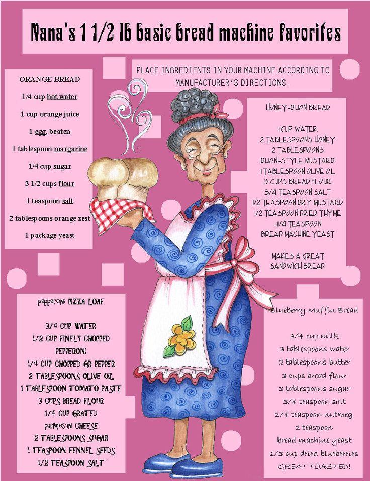 Nana's Bread Machine Favorites