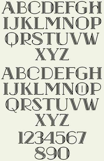 Letterhead Fonts / LHF Hudson / Art Deco Fonts