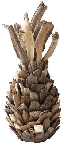 Creative Co-Op Pure Driftwood Pineapple Sculpture Wonderful Rustic Driftwood Welcome to Your Home. #homedecor #driftwood #pineapple #affiliate