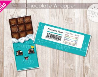 Cheeky Chocolate Wrappers Shopkins Birthday by SuperCraftDee