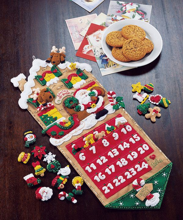 Look at this Santa's Toy Shop Advent Calender Kit on #zulily today!