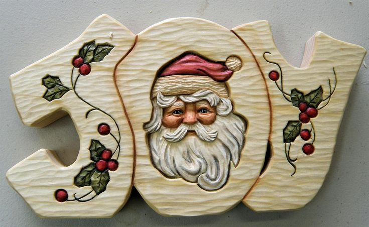 Bob Biermann got permission from the original artist (Jean Zawicki) to use her Santa design for carving. Bob Generously shares the pattern, materials and instructions for painting this. It would be great painted on a plaque, box, card etc