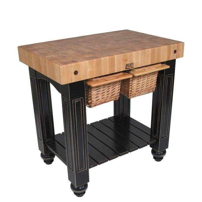 American Heritage Prep Table With Butcher Block Top Butcher