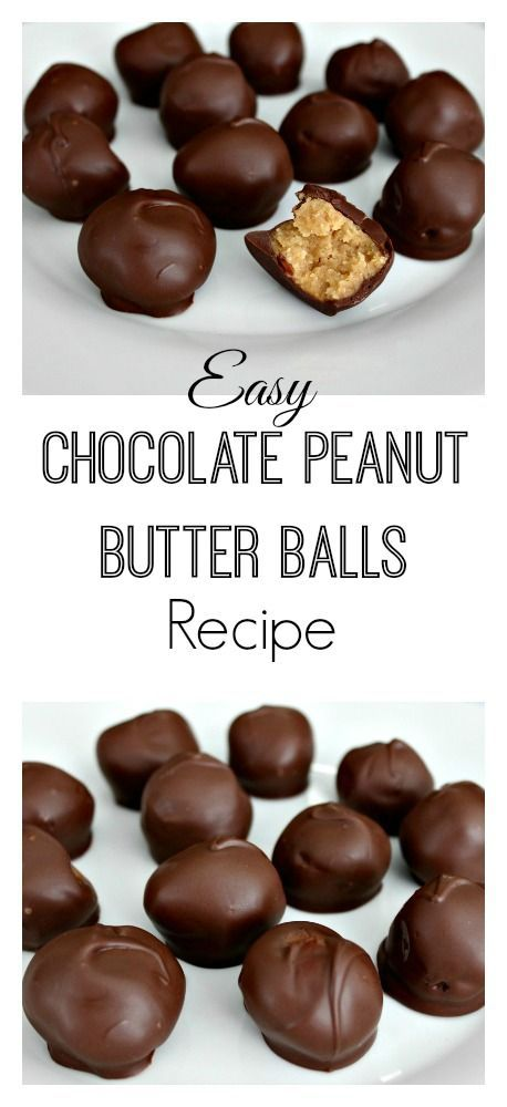 Easy Chocolate Peanut Butter Balls Recipe -- My family and friends request these every year for the Holidays and I gladly make them. Only 5 ingredients and they taste like you bought them at a gourmet candy store. | Mom Fabulous