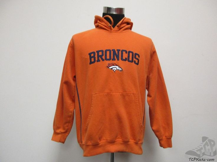 NFL Denver Broncos Hoody Hoodie SEWN Sweatshirt sz M Medium Football AFC Orange #NFL #DenverBroncos