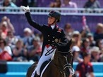 Charlotte Dujardin of Great Britain riding Valegro competes in the Dressage Grand Prix