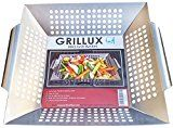 #9: Grillux Stainless Steel Vegetable Grill Basket http://grillidea.com/char-broil-classic-4-burner-gas-grill-review/