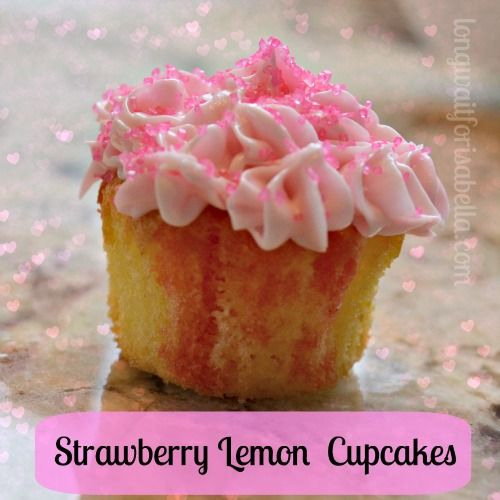 strawberry lemon cupcakes #baking #recipes jello poke