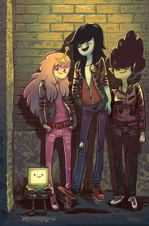 Marceline and the Scream Queens 4 cover by Faith Erin Hicks and Noreen Rana. Based on a Ramones album cover. #Horadeaventuras