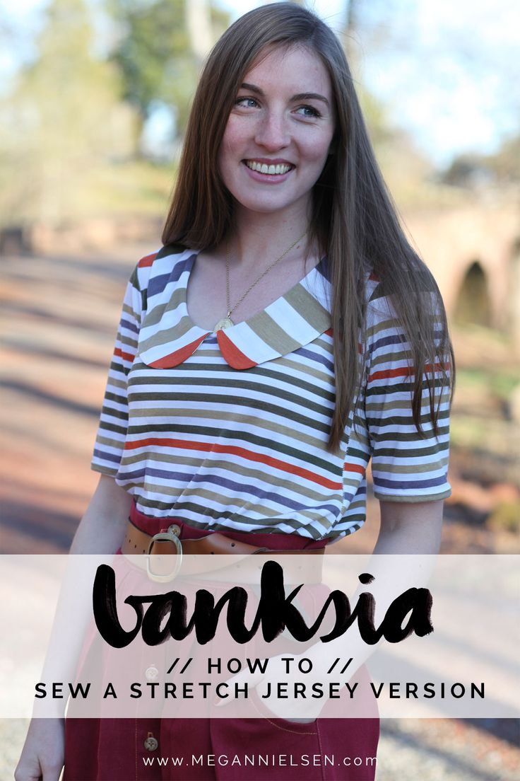 How to sew a stretch jersey Banksia top // Banksia pattern sewalong on Megan Nielsen Design Diary
