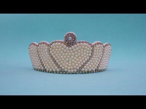 Faça você mesma: Tiara com coroa de pérolas - YouTube