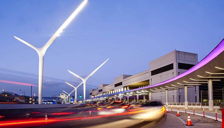 HLB lighting design LAX arrivals departures depot designboom