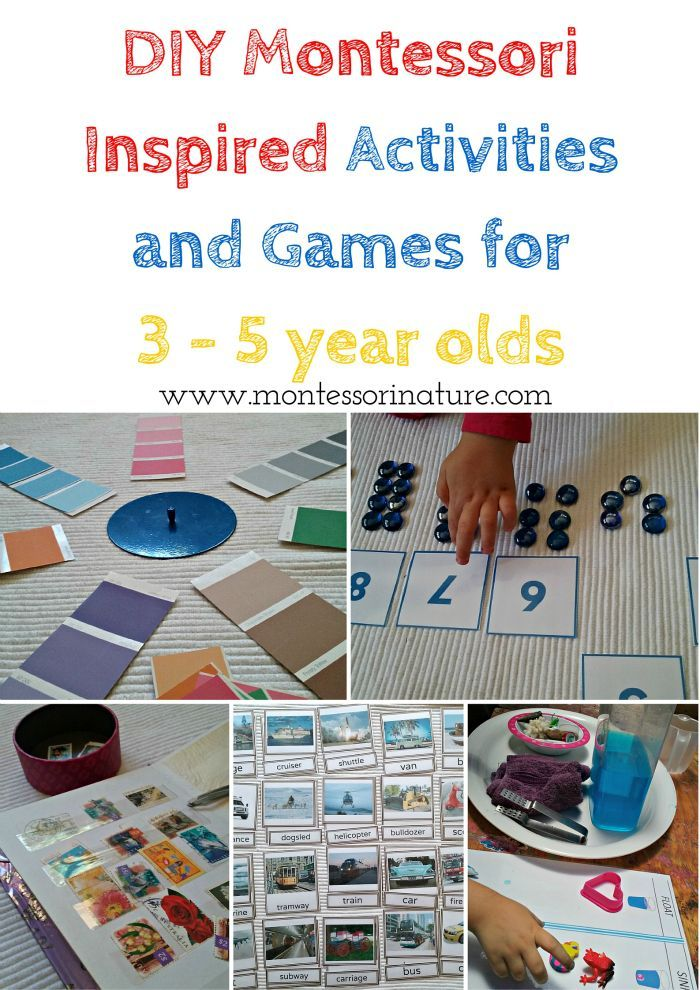 DIY Montessori Inspired Activities and Games for 3