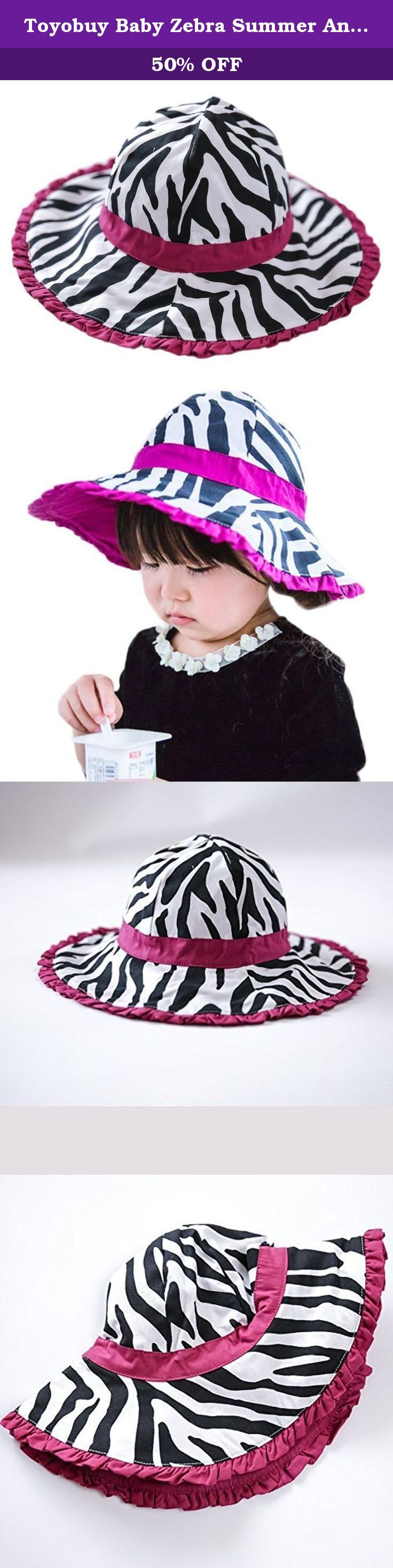 Toyobuy Baby Zebra Summer Anti UV Wide Brim Lace Sun Bucket Hat Purple 54CM. All figures are measured artificially, so please allow a little discrepancy Material: Cotton Size: Head Circumstance: 48cm(Suitable for 6-12 months baby) Head Circumstance: 50cm(Suitable for 1-2 years old baby) Head Circumstance: 52cm(Suitable for 2-4 years old baby) Head Circumstance: 54cm(Suitable for 4-6 years old baby) Color varies from different computer screens Before you place the order, please think about…