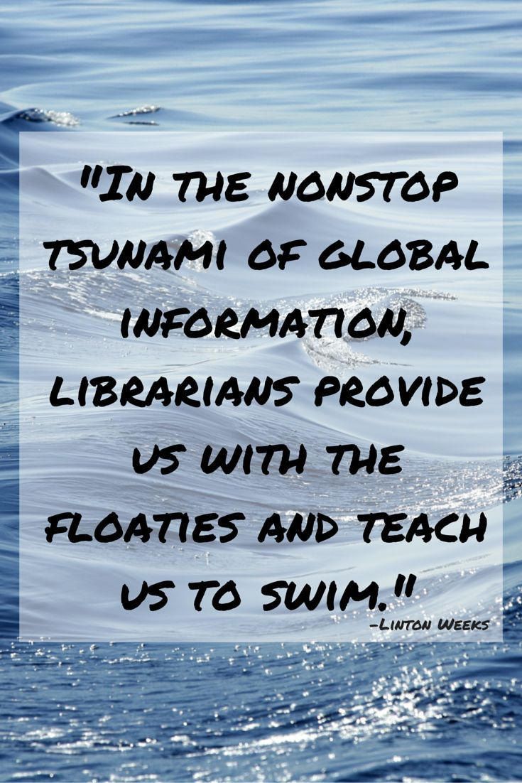 #library Quote From Linton Weeks
