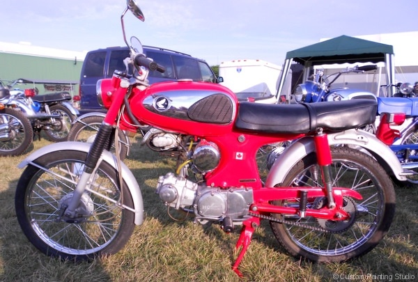 Red Honda Motorcycle