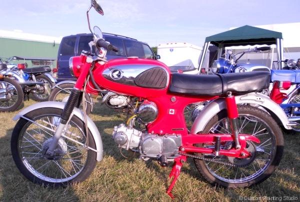 Red Honda Motorcycle