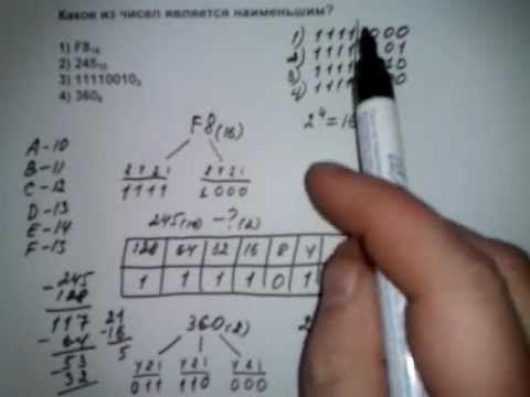 A1 тип VIII способы 1-2 ЕГЭ информатика 2012