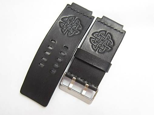 0bfc17e95 35mm čierny kožený remienok na hodinky / leon | Leather Cuff, Watch ...