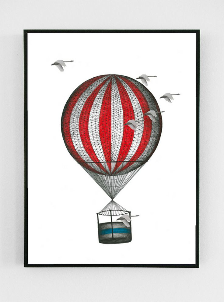 Tivoli Ballon - in A3 format. Buy it at www.justspotted.dk