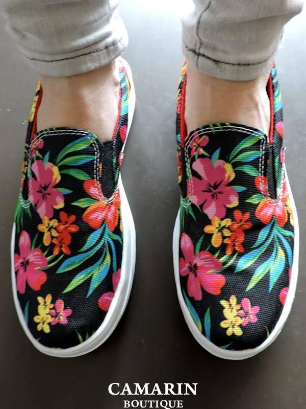 #Zapatillas Jack floreadas