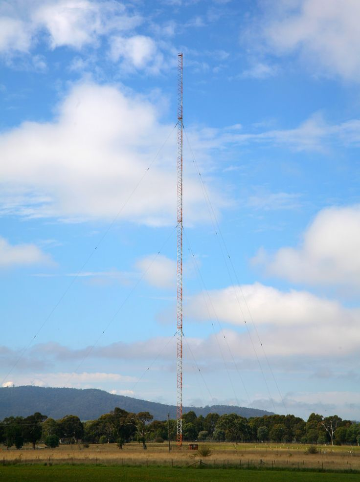 The transmitter for 2CC and ABC Radio Canberra. Both are non-directional (using one tower) and 5000 watts. 2CC is on 1206Khz and ABC Radio Canberra is on 666KHz.