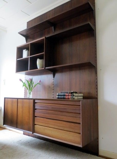 original 60er poul cadovius cado regal system palisander paneel schrankwand danish design. Black Bedroom Furniture Sets. Home Design Ideas