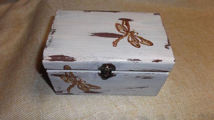κουτί ξίυλινο 10Χ8Χ14 παλαίωση