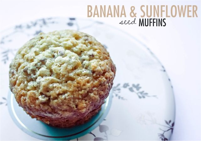Banana & Sunflower Seed Muffins #food #dessert #foodblog #foodblogger #meal #mealidea #recipe #baking #muffin #bananamuffin
