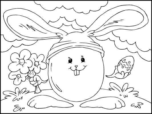 a funny easter coloring page find even more easter fun on the coloring pages 4