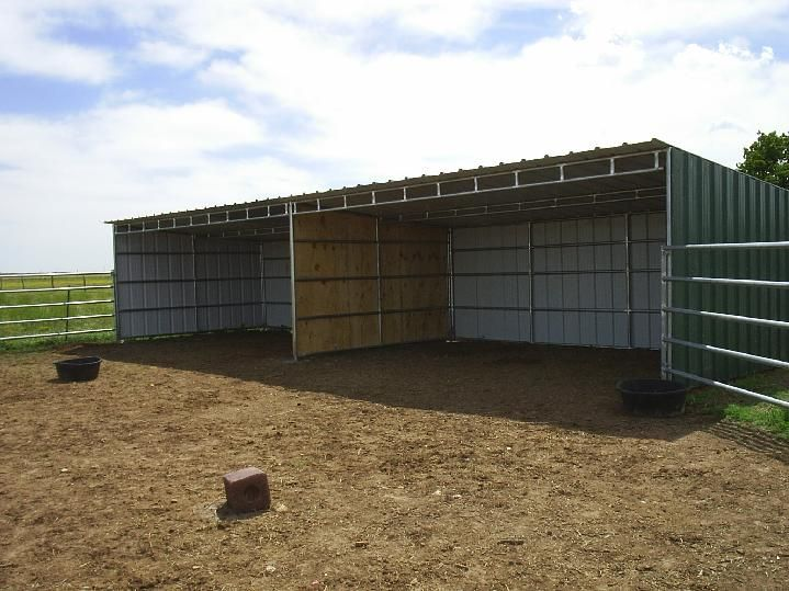 Horse Shelter Loafing Shed Plans Things Pinterest