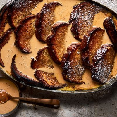 Banana bread-and-butter pudding