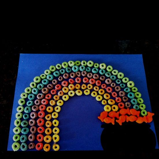 Fruit Loop Rainbow- 100 days of school project idea