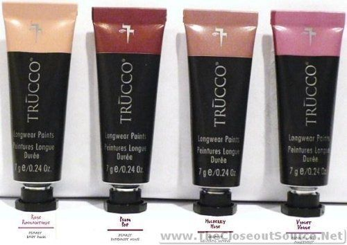 Sebastian Trucco LongWear Paints for Eyes Lips and Cheeks Mulberry Muse Plum Pop Violet Vogue Rose Romantique 4 Tubes >>> Details can be found by clicking on the image.