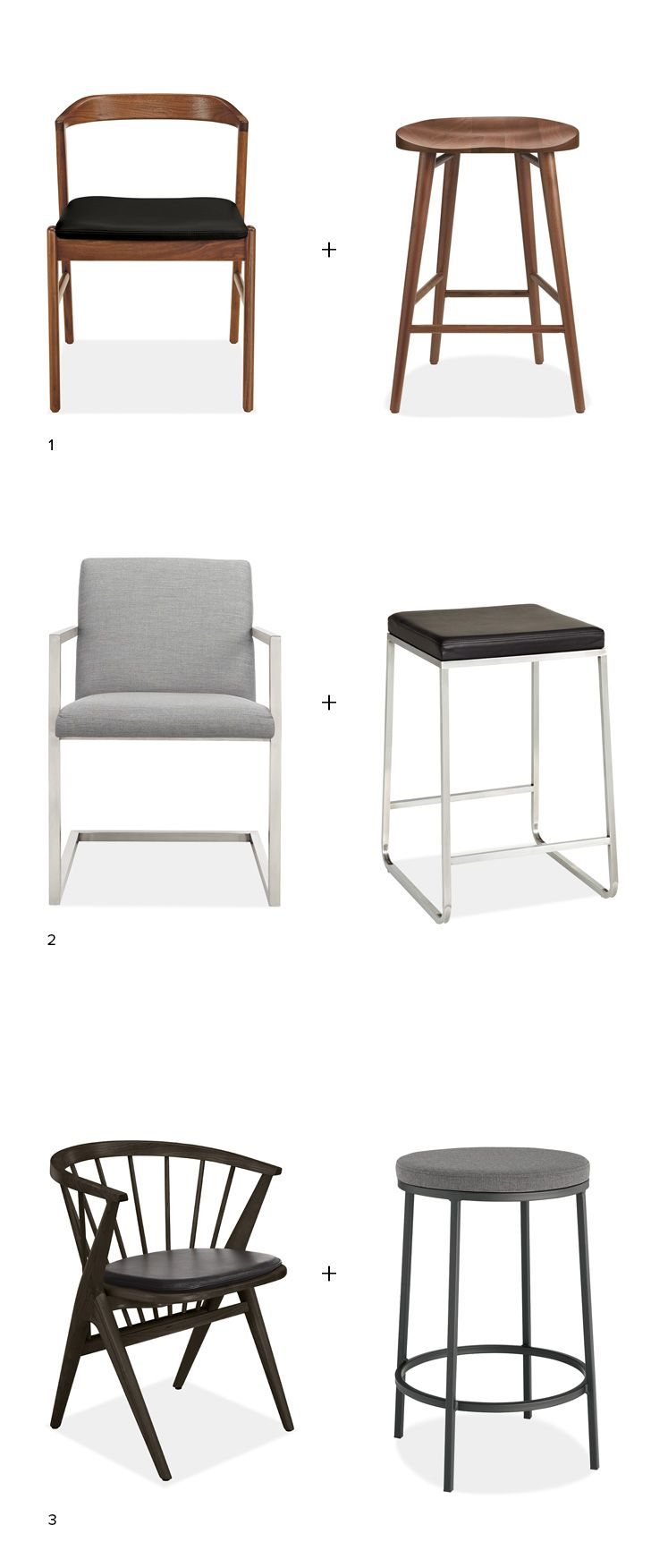 Counter Stools And Dining Chairs How To Find The Right Mix Kitchen Stools Bar Stools Kitchen Chairs