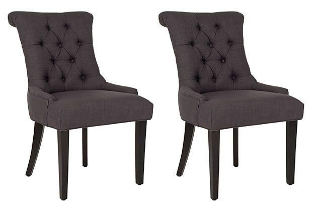 Charcoal Poppy Armchairs Pair On Onekingslane Com
