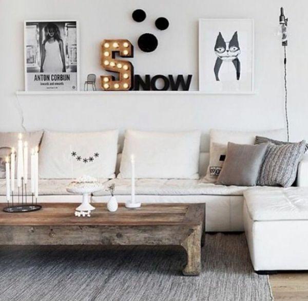Wandgestaltung wohnzimmer rustikal ~ Ideen für die ...